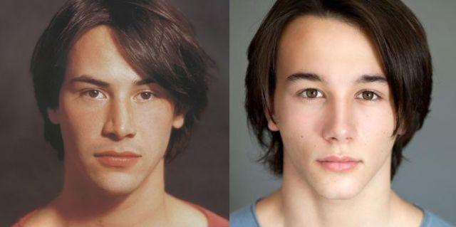 キアヌの若い頃と、若いカイを演じたダニエル・バーバー