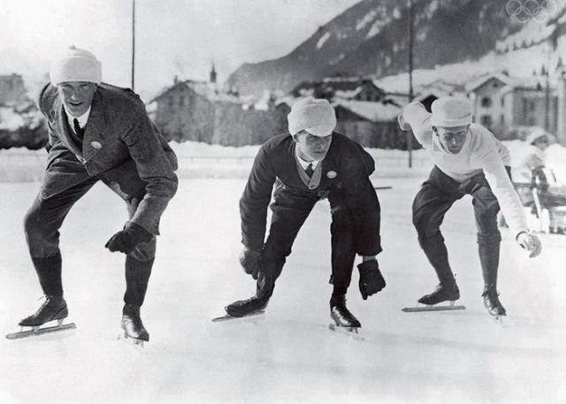 第1回冬季五輪のステキすぎるスピードスケーターたち
