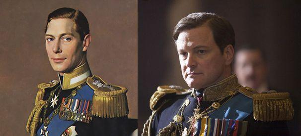 ジョージ六世 本物(左)と偽物(右)