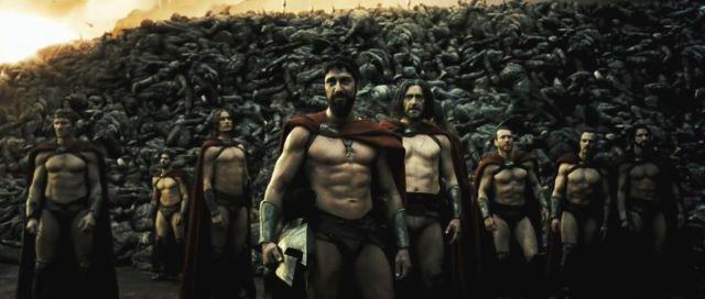 スパルタ戦士の大胸筋祭り しかしずっと見てると昆虫かなんかに見えてくる