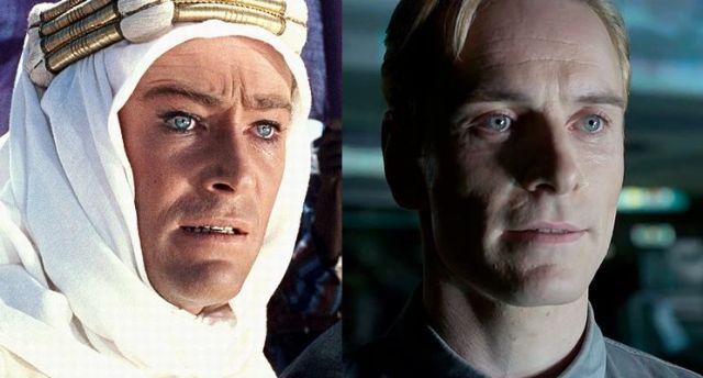 参考までにピーター・オトゥール(左)とマイケル・ファスベンダーの比較画像