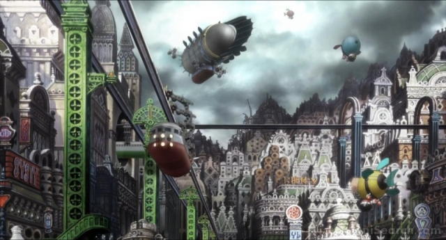 スチームパンク・タウンと化したイーハトーブ。いや、これはこれですごいんだが、少なくとも宮沢賢治の世界ではないな。